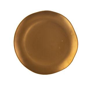 BITOSSI HOME La Tavola Scomposta Porcelain Dinner Plate Irregular Edge Golden