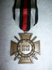 Germany WW1 - GERMAN Hindenburg Cross Medal & Swords Carl Theodor Dicke Maker