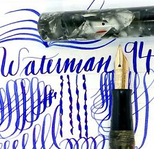 Vintage Waterman 94 silver and grey LARGE 14k F to BBB FLEX