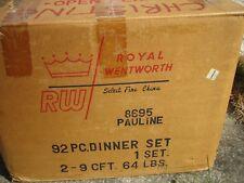 Royal Wentworth 92 Piece Fine China Set - Pauline Pattern #8695 Service for 12