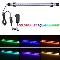 Aquarium Fish Tank LED Light RGB White Blue Light Bar Lamp Lighting Submersible