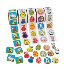 500 Easter Stickers 5 Rolls of 100 Assorted Spring Time Stickers