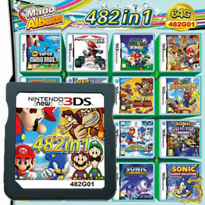 482 in 1 Video Game Card For Super Mario Nintendo DS NDSL NDSI 2DS 3DS UK Seller