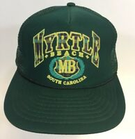 VTG Myrtle Beach South Carolina Souvenir Vacation Snapback Dad Cap Hat Trucker