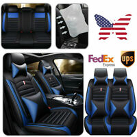 Fly5D Deluxe Car Seat Cover PU Leather Cushion Waterproof For 5-Seats SUV Truck