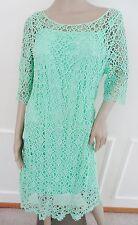 Nwt Lauren Ralph Lauren Crocheted Lace Cocktail Sheath Dress Sz L Large Green