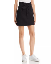 New $200 Rebecca Minkoff Womens Callie Black Tie-Front Pencil Denim Skirt Size L