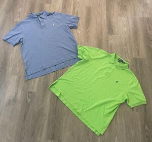 Lot Of 2 Men's Polo Ralph Lauren Pima Stretch Mesh short sleeve shirt 2XB BIG