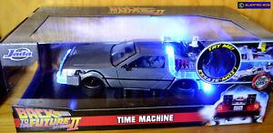 1:24 Back to the Future II Delorean Time Machine [Lights] - NEW/Sealed [E-808]