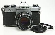 Pentax K1000 35mm SLR Film Camera with SMC Pentax-M 50mm f/2 Lens TESTED