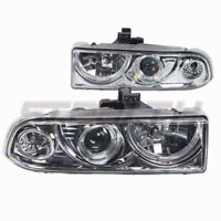 Projector Halo Headlights for 1998-2005 Chevrolet S10 Blazer - Chrome/Clear