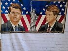 Vintage Tapestry Of John F. Kennedy And Bobby Kennedy 39x20
