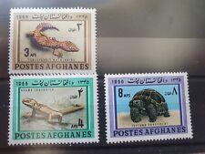 Afghansitan  1966 Reptiles set of 3, MNH
