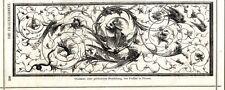 Ornament einer Holzfüllung von Frullini Florenz Holzschnitt-Vignette von 1873