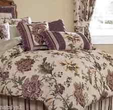 Croscill VICTORIAN GARDEN Square & FASHION PILLOWS 2PC SET Purple Floral