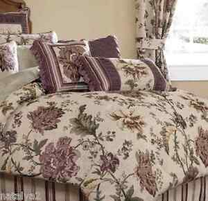 Croscill VICTORIAN GARDEN Square & FASHION PILLOWS 2PC SET Purple Floral