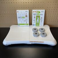 Nintendo Wii Fit Balance Board Bundle w/ Wii Fit Plus & Wii Fit Tested-Free Ship
