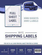 """1000 Full Sheet shipping Label - 8.5"""" x 11"""""""