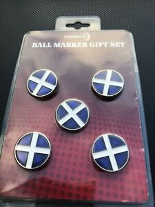 Scotland 24mm Golf Ball Markers - Enamel - Pack of 5