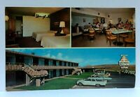 Arizona Lake Powell Motel Multiview Vintage Cars Restaurant Interior Postcard