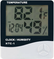More details for phlizon digital temperature humidity monitor  gauge with thermometer & clock uk