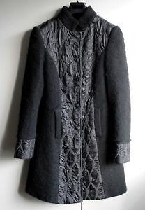 Schiffhauer Mantel Gr. 36 Gekochte Wolle schwarz