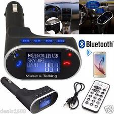 Wireless Bluetooth Car Kit MP3 FM Transmitter Modulator USB SD TF LCD Hands-Free