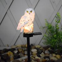 LED Soporte de buho Solar Power luz jardín paisaje patio lámpara de decoración
