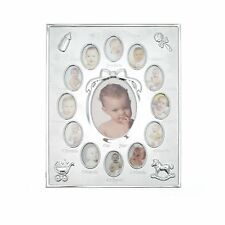 Silver My First Year' Baby Multi-Photo Frame holds 13 Photos 12 Months Phots 1st