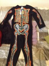 Halloween Skeleton Fancy Dress Outfit 7-8 Yrs