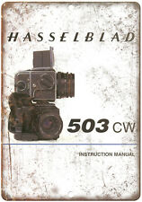 "Hasselblad 503 CW Film Camera 10"" x 7"" Retro Look Metal Sign"