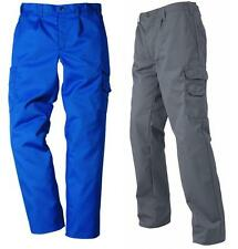 MENS BLUE FRISTADS CARGO COMBATS WORK-WEAR TROUSERS HEAVY DUTY 30W