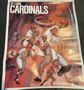 "SCARCE 1971 BASEBALL PROMOTIONS/MLB~ST LOUIS CARDINALS ~ 23x29""~POSTER PREMIUM"