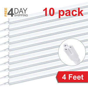 10 PACK T5 LED Linkable Shop Light 4FT Shop Light 6500K Daylight Ceiling Fixture