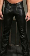 MENS REAL COWHIDE LEATHER CARPENTER PANTS GAY INTEREST LEATHER PANTS