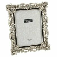 Impressions - Antique Silver Floral Resin Photo Frame with Crystals - 6 x 8