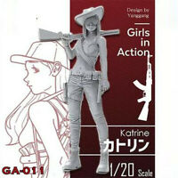 1/20 Katrine Girls in Action Resin Model Kits Unpainted GK Unassembled