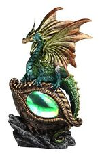 "8.25"" Green Dragon Eye / LED Decor Figurine Statue Fantasy Figure"
