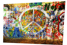 graffiti wall urban street art Print A0 size Canvas john lennon imagine painting