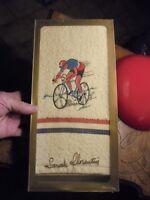 Serviette Bain Sarah Florentin Cycliste Brodé Vélo Coureur Style Tour de France