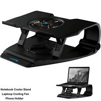 Laptop Cooler Notebook Stand LED Single Fan Tablet Cooling Pad Two USB Ports