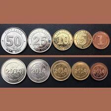 ZIMBABWE UNC SET OF 5 COINS 1 5 10 25 50 CENTS BOND COINS 2014
