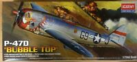 "KIT MAQUETA P-47D ""BUBBLE TOP"""" 1:72 ACADEMY 12491"