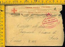 WW1  Regno Posta Militare Prigionieri di Guerra  k 104 croce rossa Torino