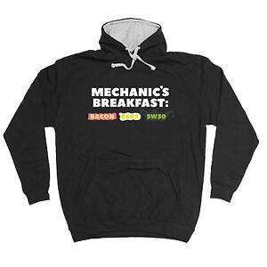 Mechanic Breakfast HOODIE car engine motorbike hoody top funny birthday gift