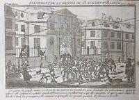 Couvent des Lazaristes 13 Juillet 1789 Rare Gravure Époque Révolution Française