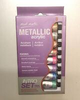 Metallic Acrylic Paint Intro Set 8 x 18ml Mont Marte Craft Art Supply Artist