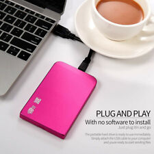 USB 3.0 External Mobile Hard Drive Disk HDD 1TB Storage Device SATA for Laptop