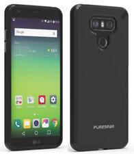 PureGear Jet Black Slim Shell Case Hard Cover for LG G6, G6-Plus