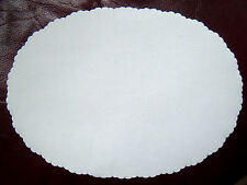 White Paper Doilies,Pack 100 Oval Disposable Dish Papers,Doily, Doiley 26.5x19cm